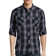 Rerun by Chalc Long-Sleeve Plaid Poplin Shirt