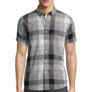 Arizona Short-Sleeve Plaid Woven Shirt