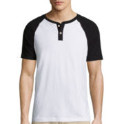 Arizona Short-Sleeve Raglan Henley Shirt