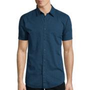 JF J. Ferrar® Short-Sleeve Indigo Woven Shirt