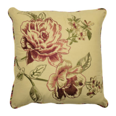 jcpenney.com | Waverly® Floral Cordial Embroidery Square Decorative Pillow