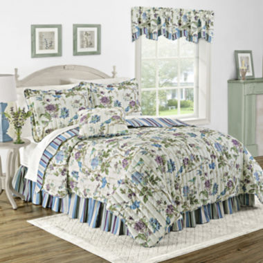 jcpenney.com | Waverly® Charleston Chirp Larkspur Reversible Quilt Set & Accessories