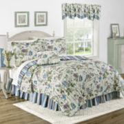 Waverly® Charleston Chirp Larkspur Reversible Quilt Set & Accessories