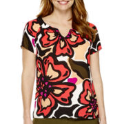 Worthington® Short-Sleeve Blouse - Petite