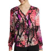 Worthington® Long Sleeve Blouse - Tall