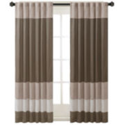 Eastridge Polyoni Pintuck-Striped Rod-Pocket Curtain Panel