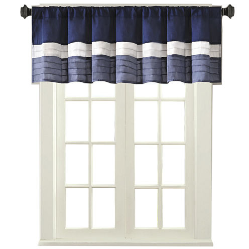Amador Polyoni Pintuck-Striped Rod-Pocket Valance