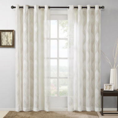 jcpenney.com | Madison Park Elin Ogee Jacquard Grommet-Top Curtain Panel
