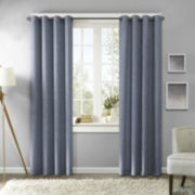 Madison Park Harlowe Texture Printed Grommet-Top Curtain Panel