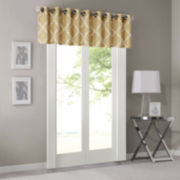 Madison Park Westmont Fretwork Print Grommet-Top Valance