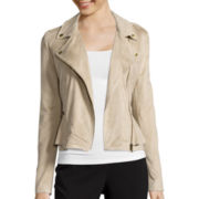 Worthington® Long-Sleeve Peplum Moto Jacket