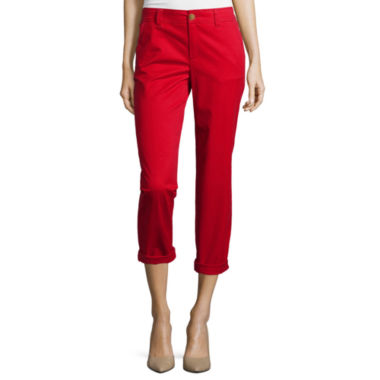 jcpenney.com | Liz Claiborne® Cropped Chino Pants - Tall