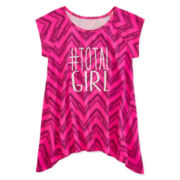Total Girl® Short-Sleeve Tunic Top - Girls 7-16 and Plus