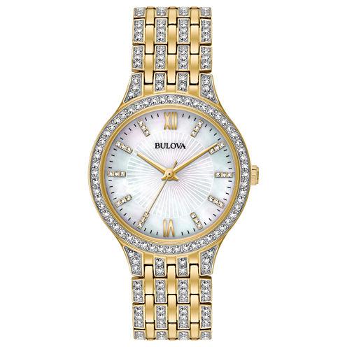 Bulova Womens Gold Tone Bracelet Watch-98l234