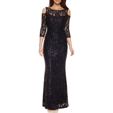 jcpenney.com | Blu Sage Long Sleeve Sequin Evening Gown