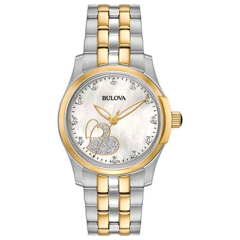 Bulova Womens Two Tone Bracelet Watch-98p152