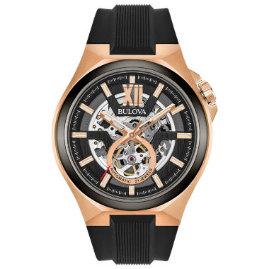 jcpenney.com | Bulova Mens Black Strap Watch-98a177