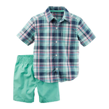 jcpenney.com | Carter's Boys 2-pc. Long Sleeve Short Set