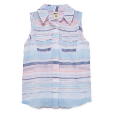 jcpenney.com | Arizona Sleeveless Button-Front Shirt Girls