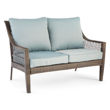 jcpenney.com | Outdoor Oasis™ Latigo Wicker Loveseat