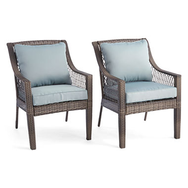 Outdoor Oasis Latigo Wicker Dining Chair Set of 2