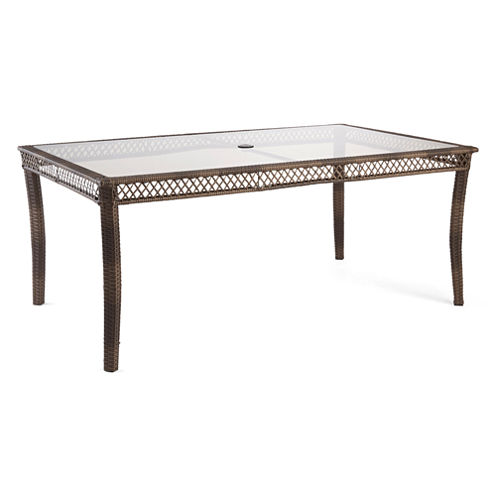 Outdoor Oasis™ Latigo Wicker Rectangle Table