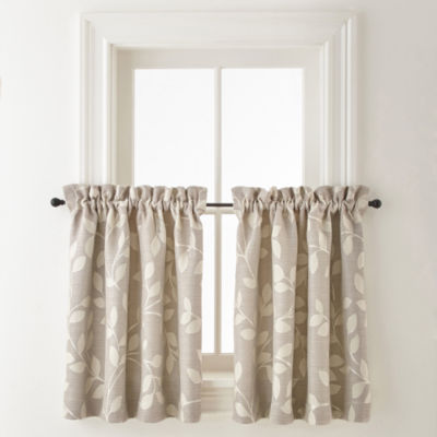 Jcpenney Home Quinn Leaf Rod Pocket Window Tiers Jcpenney