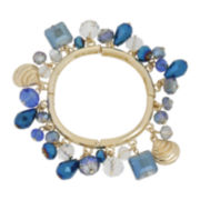 Mixit® Gold-Tone Blue Shaky Stretch Bracelet