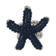 Mixit® Silver-Tone Blue Starfish Stretch Ring
