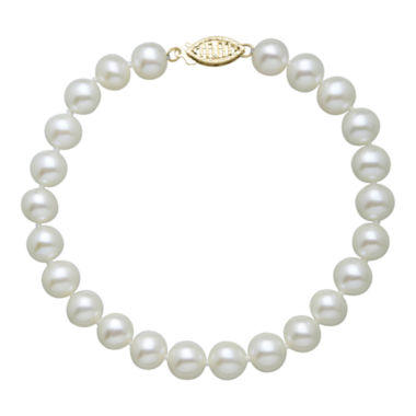 "jcpenney.com | Certified Sofia™ Cultured 7-7.5mm Freshwater Pearl 7.5"" Bracelet"