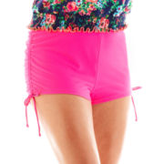 Arizona Solid Hot Pant Swim Bottoms - Plus