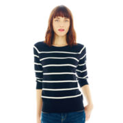 Joe Fresh™ Striped Crewneck Sweater