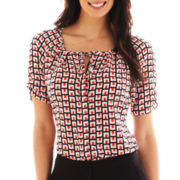 Worthington® Tie-Neck Blouse - Talls