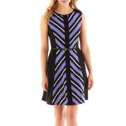 Luxology Belted Fit-and-Flare Dress - Petite