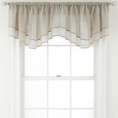 jcpenney.com | MarthaWindow™ Voile Double-Layered Rod-Pocket Ascot Valance