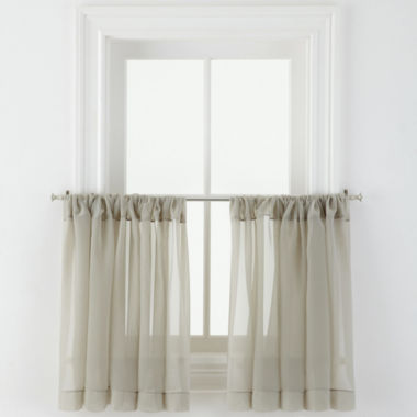 jcpenney.com | MarthaWindow™ Voile Rod-Pocket Window Tiers