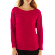 Liz Claiborne Long-Sleeve Cable Sweater