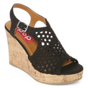 Pop Brooke Slingback Platform Wedge Sandals