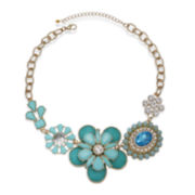 Mixit™ Mint and Aqua Flower Statement Necklace