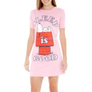 Snoopy Short-Sleeve Nightshirt