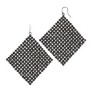 Vieste® Jet Rhinestone Hematite Kite Earrings