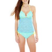 Arizona Crochet Halterkini Swim Top or Hipster Bottoms - Juniors