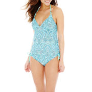 Bisou Bisou® Print Halterkini Swim Top or Hipster Bottoms
