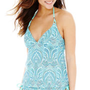 Bisou Bisou® Print Halterkini Swim Top
