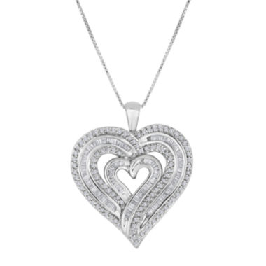 jcpenney.com | 1 CT. T.W. Diamond Sterling Silver Heart Pendant Necklace