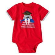Okie Dokie® Short-Sleeve Graphic Bodysuit - Boys newborn-9m
