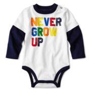 Okie Dokie® Long-Sleeve Graphic Knit Bodysuit - Boys newborn-9m