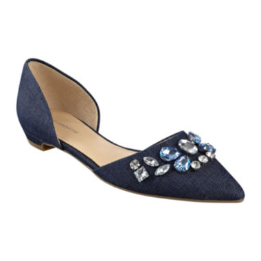 jcpenney.com | Liz Claiborne® Teagan Pointed-Toe Jeweled Flats