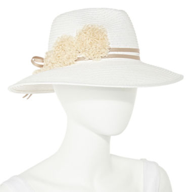 jcpenney.com | August Co. Inc. Fedora Floral Ribbon Brim Hat