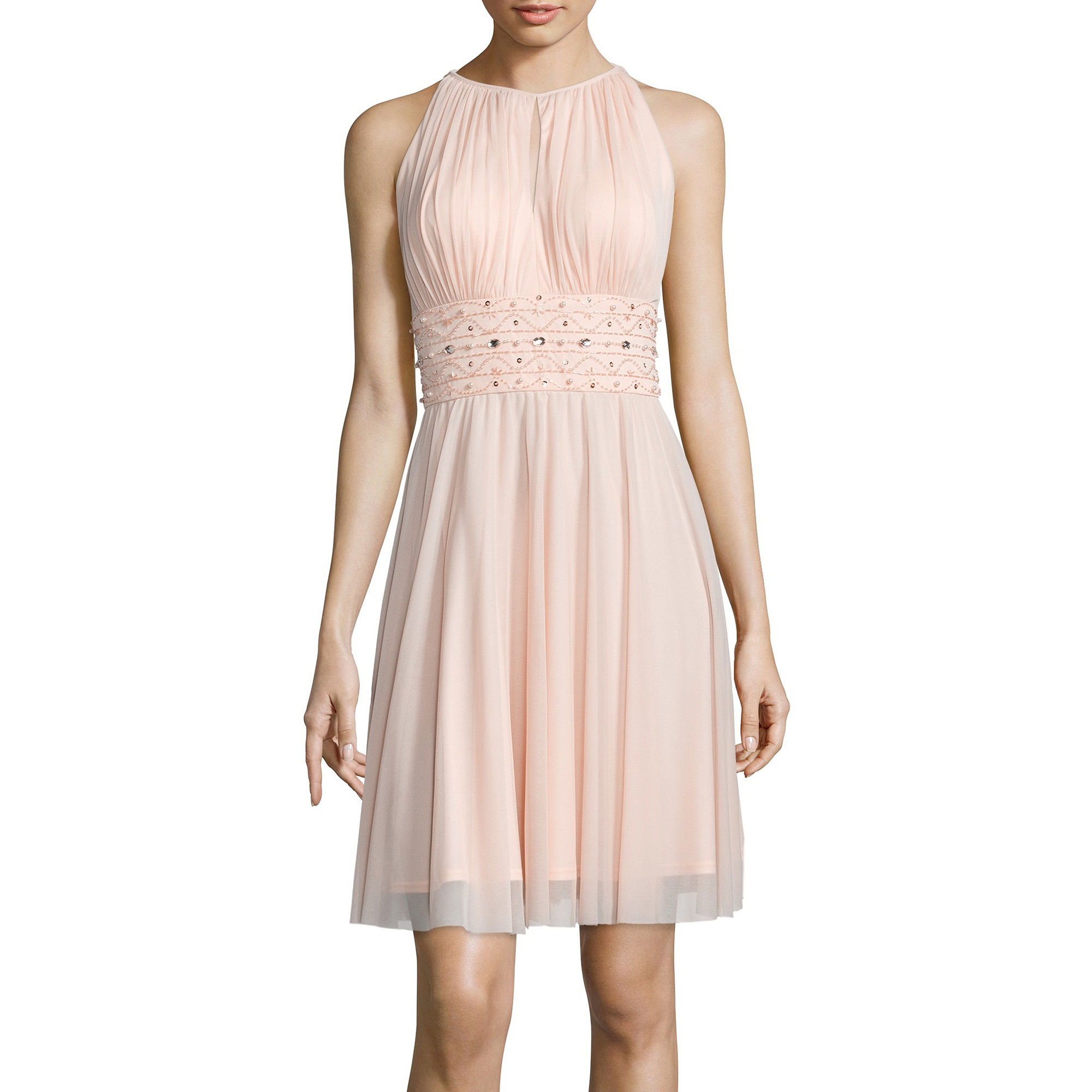 cb3db1ae799 689886717273. La Nouvelle Renaissance Sleeveless Beaded Halter Dress